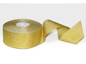 `Лента, парча, ширина 50 мм, цвет золото