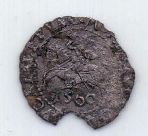 1 грош 1560 года Литва Польша