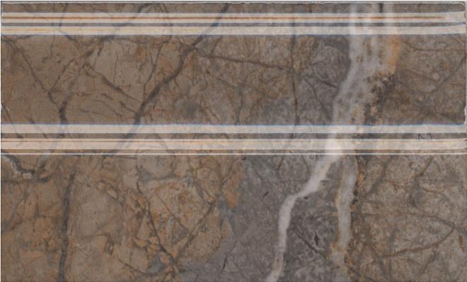 FMB023R | Плинтус Театро коричневый обрезной