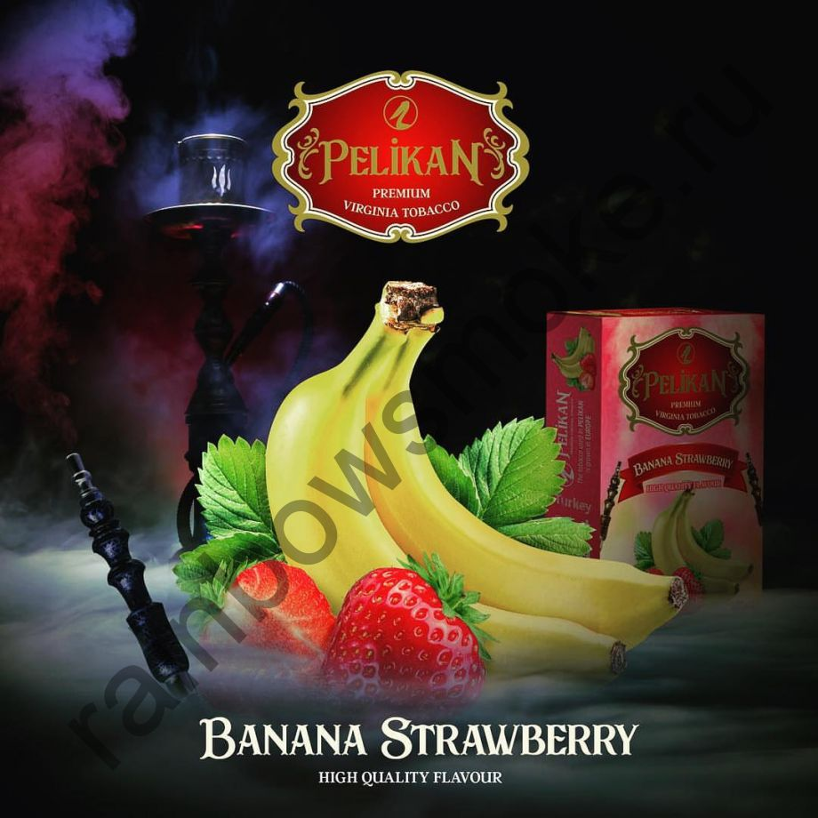 Pelikan 200 гр - Banana Strawberry (Банан с Клубникой)