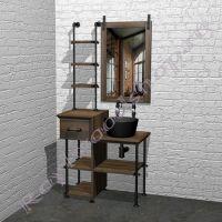"""Столешница с  раковиной для ванной  """"Лофт-2""""-2"""