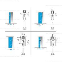 Комплект фурнитуры Krona Koblenz 1760/80/120 на 1 стеклянную дверь до 80/120 кг
