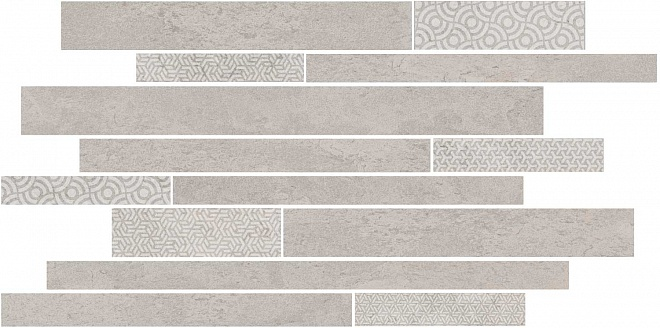 SBM009/SG4583   Декор Ламелла серый светлый мозаичный