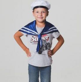 Костюм моряка: воротник (гюйс), бескозырка, обхват головы 54 см