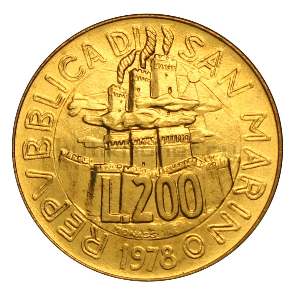 200 лир 1978 Сан-Марино Работа