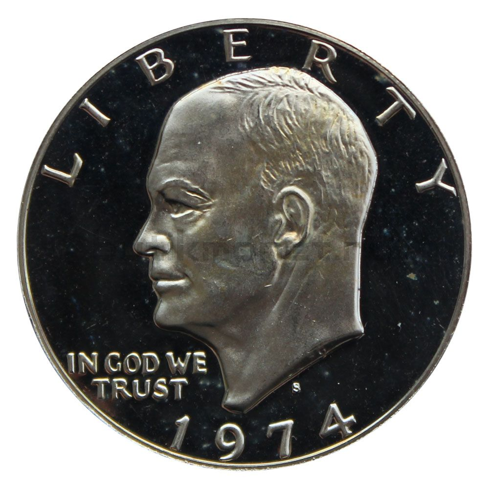 1 доллар 1974 США Серебряный доллар Эйзенхауэра PROOF
