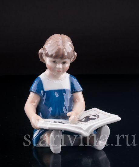 Изображение Девочка с книгой, Royal Copenhagen, Дания