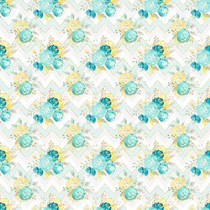 Хлопок Перкаль Мятные цветы с узором 50х37