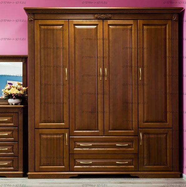 Шкаф 4-дверный Палермо Массив DreamLine (207х66х220)