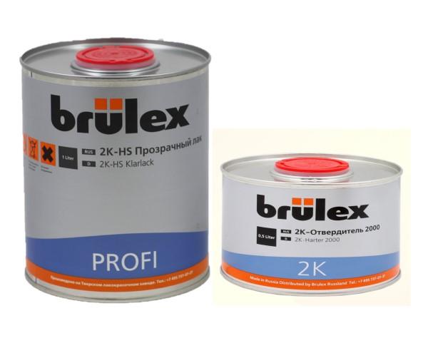Brulex 2K-HS-Profi Прозрачный лак 1 л + 2К отвердитель