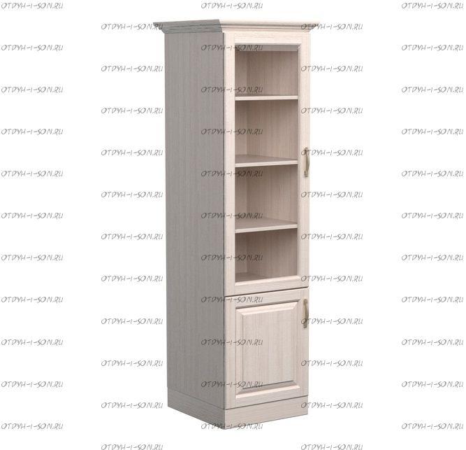 Шкаф-библиотека 1-дверный Эдем Массив DreamLine (45х48х220)