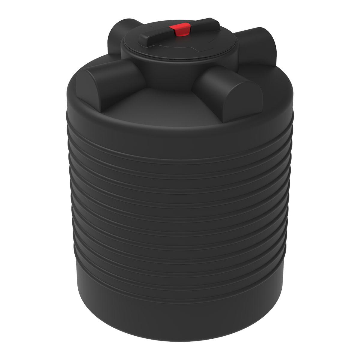 Бак для воды 300 литров ЭВЛ черный пластиковый