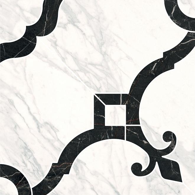 ID88 | Декор Фрагонар наборный белый 1/4 розона