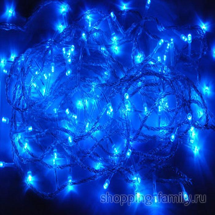 Светодиодная гирлянда 140 LED 9,5м. Цвет Синий