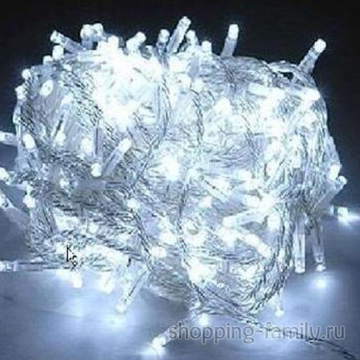 Светодиодная гирлянда 100 LED 8м. Цвет Белый