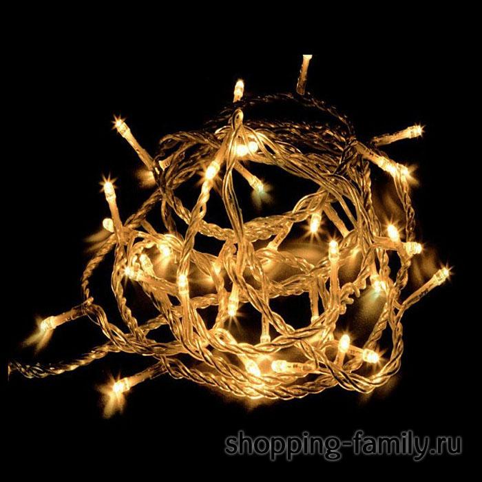 Светодиодная гирлянда 240 LED 15м. Цвет Желтый