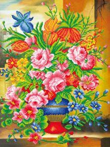 Алмазная мозаика «Прекрасные цветы (частичная)» 50x65 см