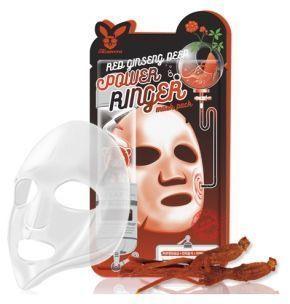 [Elizavecca] НАБОР/Ткан. маска д/лица с Красн. Женьш. RED gInseng DEEP PQWER Ringer mask pack, 10 шт
