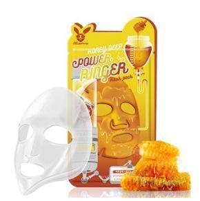 Elizavecca Тканевая маска для лица Медовая Honey DEEP POWER Ringer mask pack, 23мл