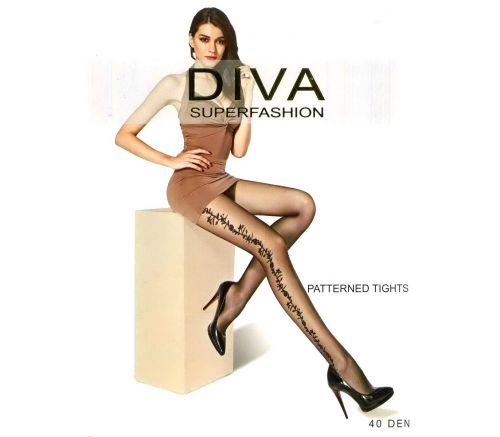 Женские колготки Diva Black 40 Den UK520