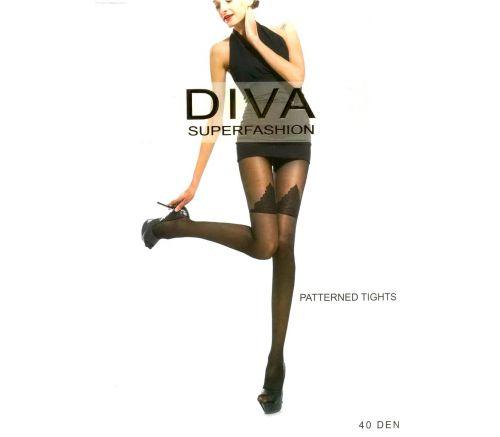 Женские колготки Diva Black 40 Den UK531