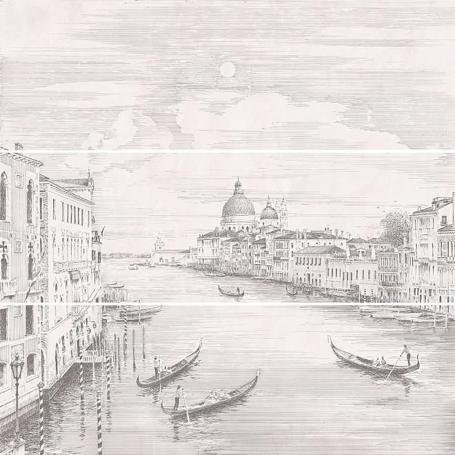 12109R/3x/3F   Панно Город на воде Venice