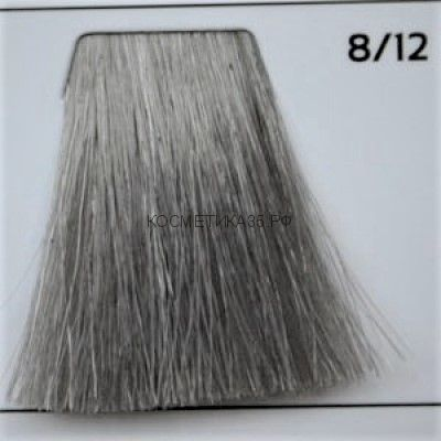 Крем краска для волос 8/12 Светло русый пепельно-перламутровый 100 мл.  Galacticos Professional Metropolis Color