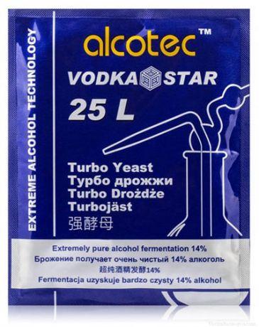 Спиртовые Турбо Дрожжи Alcotec Vodka Star, 66 гр.