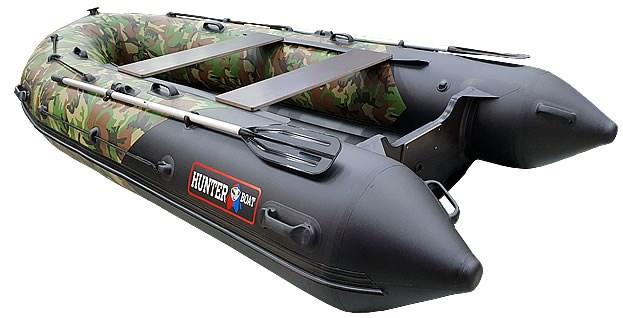 Надувная лодка Хантер 380 ПРО КМФ ХАКИ НАТО