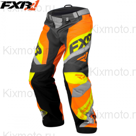 Брюки FXR Сold Сross Race Ready - Charcoal/Orange мод. 2018