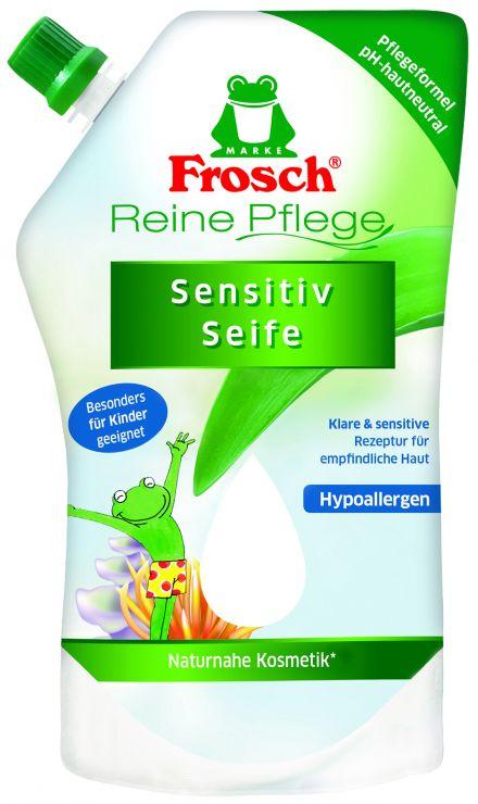 Frosch Жидкое ухаживающее детское мыло для рук запасной блок 0,5 л