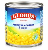 Кукуруза GLOBUS, 425мл