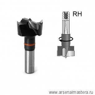 Сверло чашечное правое для присадочного станка DIMAR D 35 x 55,5 L 57,5 хвостовик 10 x 26 присадка RH 2031257