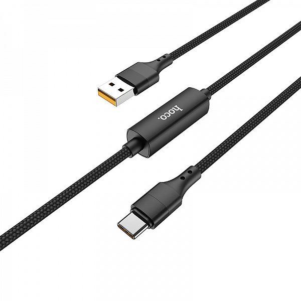 Кабель USB 2.4А HOCO S13 Черный (TYPE C) 1.2м