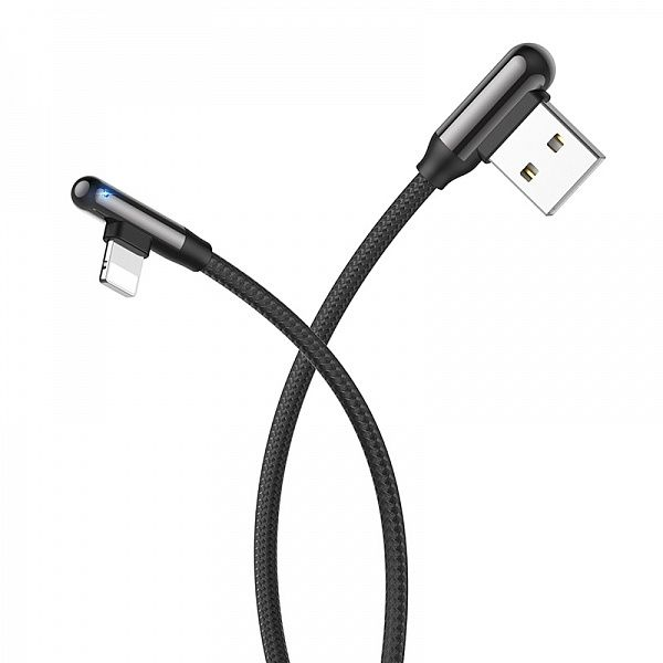 Кабель USB 3А HOCO U77 Черный (iOS Lighting) 1.2м