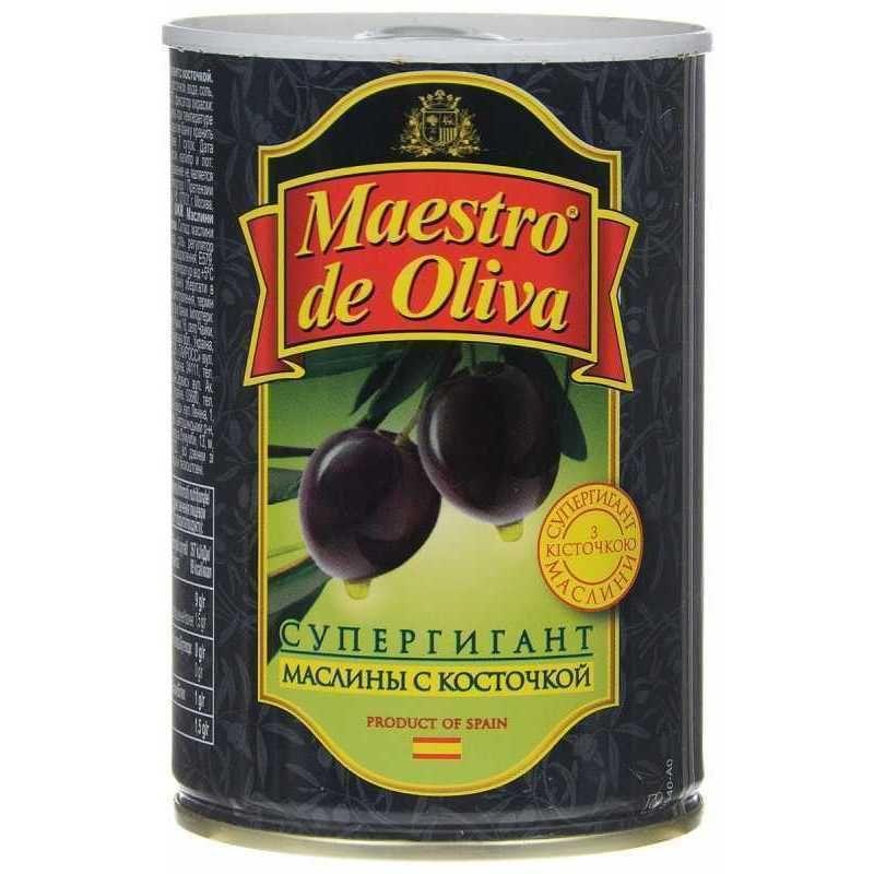 Маслины MAESTRO DE OLIVA Супергигантские без косточек,425 гр