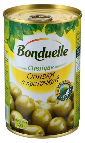 Оливки BONDUELLE с косточкой, 300 г