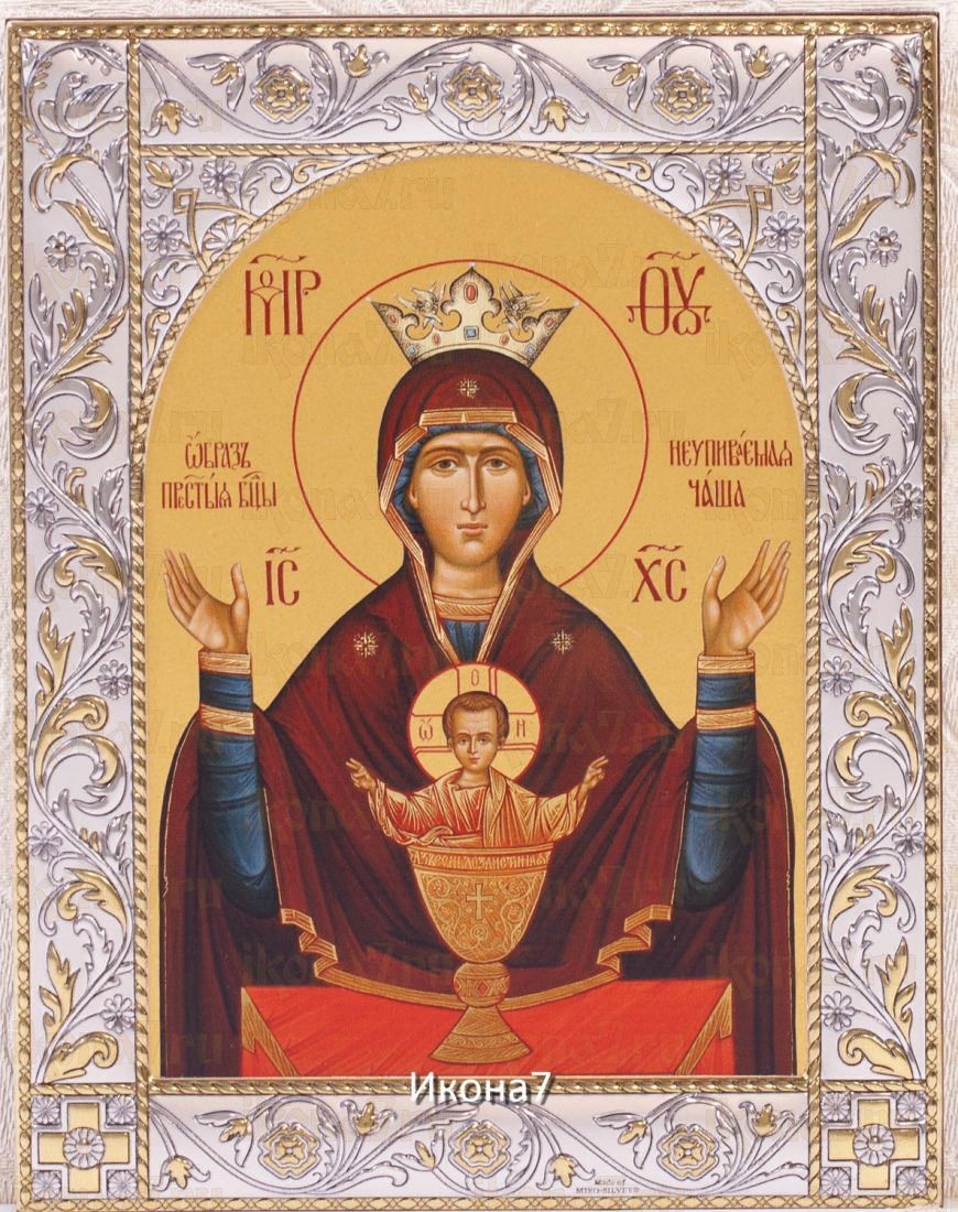 Неупиваемая Чаша икона Божией Матери (14х18см)