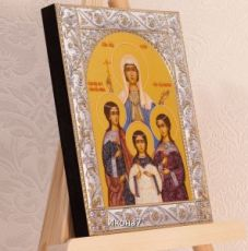 Икона Вера, Надежда, Любовь и их матерь София (14х18см)