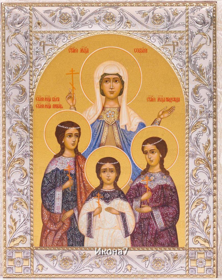Вера, Надежда, Любовь и их матерь София (14х18см)