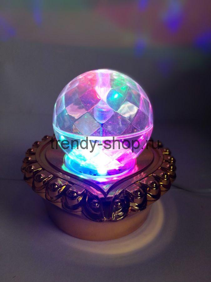 Декоративный LED-светильник на подставке Шар, 12 см