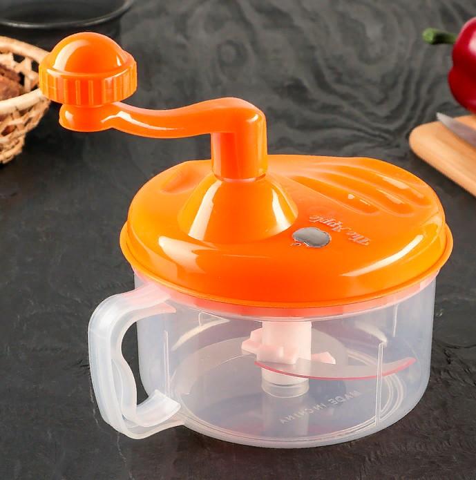 Механический измельчитель Apple King 3 ножа (цвет оранжевый)