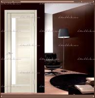 Межкомнатная дверь PREMIER 3  Ясень Японский, стекло - ЛАКОБЕЛЬ Белое :