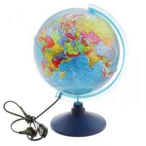 Глoбус политический «Классик Евро», диаметр 250 мм, с подсветкой