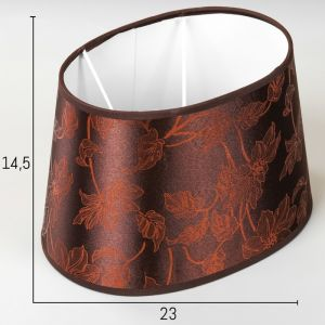 Абажур Е14 коричневый 16,5х23 см.   4415797