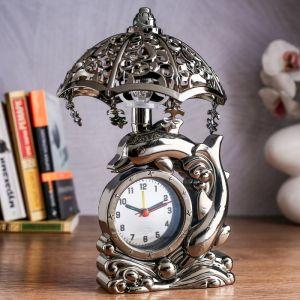 """Часы будильник """"Дельфин"""" с светильником   4599095"""