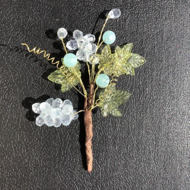 Букет декоративный из акриловых бусин (DKB061)