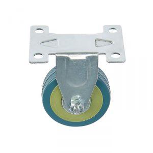 Колесо мебельное, d=50 мм, не поворотное, без тормоза, серое 3837328