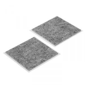 Накладка мебельная TUNDRA, 85 х 85 мм, квадратная, серая, 2 шт. 2942292