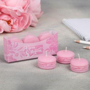 Набор свечей-макарун «Розовый»